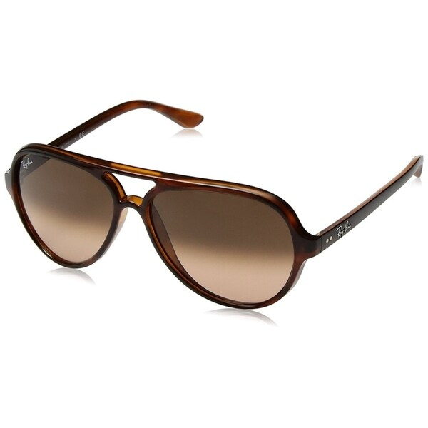 942370c282525 Ray-Ban Unisex RB4125 Cats 5000 Classic Tortoise Frame Pink Brown Gradient  59mm Lens