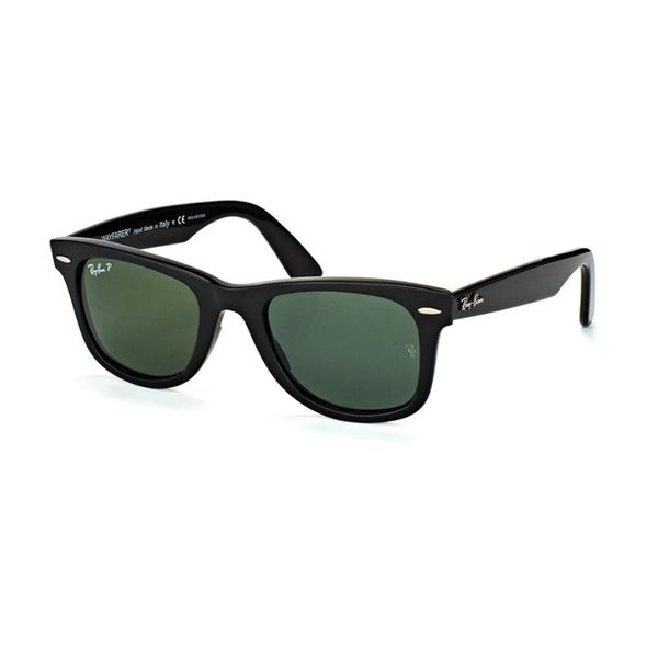 00a75a1991 RayBan Unisex RB4340 Wayfarer Ease Black Frame Polarized Green 50mm Lens  Sunglasses
