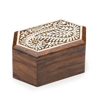 Handmade Aashiyana Wood Box - Paisley (India)
