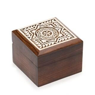 Handmade Aashiyana Wood Box - Blossom (India)