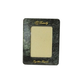 """Polished Marble Picture Frame 7.5"""" x 9.5"""", Emerald Green"""
