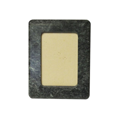 """Polished Marble Picture Frame 6"""" x 8"""", Emerald Green"""