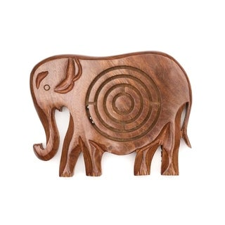 Handcrafted Wooden Labyrinth - Elephant (India)