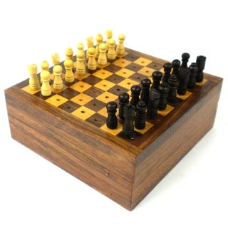 Handcrafted Travel Chess Game (India)