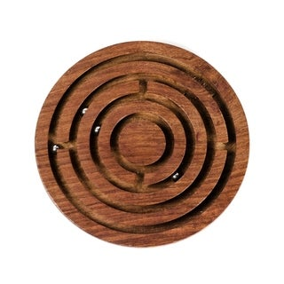 Handcrafted Classic Round Labyrinth Game (India)
