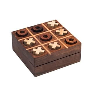 Handcrafted Rosewood Tic Tac Toe (India)|https://ak1.ostkcdn.com/images/products/17754545/P23954759.jpg?impolicy=medium