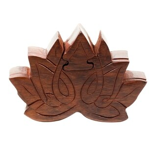 Handcrafted Lotus Puzzle Box (India)