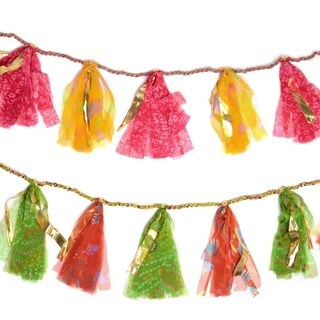 Upcycled Sari 8-foot Party Tassel Garland (India)