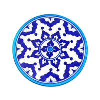 Handcrafted Blue Pottery Trivet - Indigo (India)