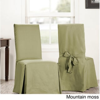 Exclusive Fabrics Solid Cotton Chair Covers (Sold As Pair) (3 options available)