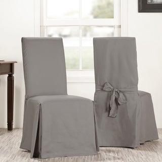 Exclusive Fabrics Solid Cotton Chair Covers (Sold As Pair)