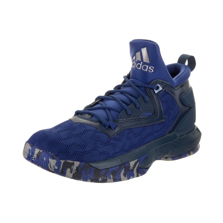 Adidas Men's D Lillard 2 Basketball Shoe (6), Blue (Synth...