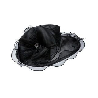 Giovanna Signature Women's Organza Wide Brim Hat