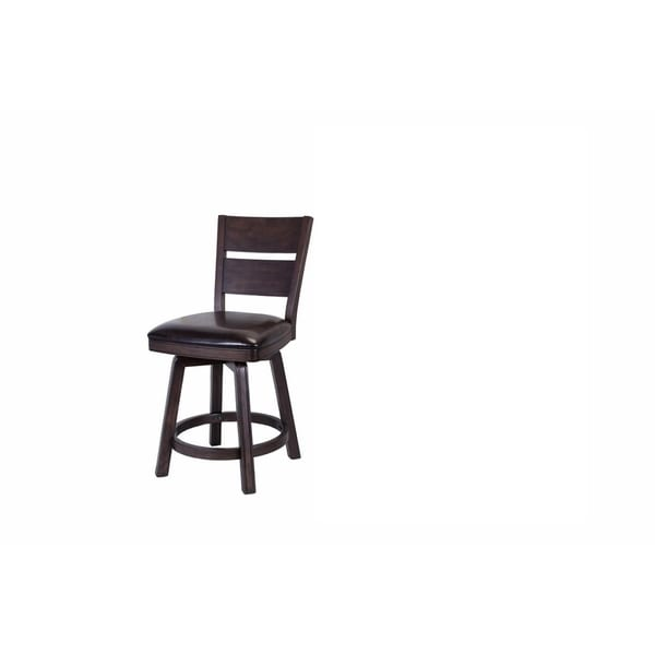 Whitaker Furniture Pompano Set of 2 Counter Height Stools, Black Oak
