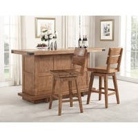 Whitaker Furniture Shenandoah Wood 3-piece Bar Set