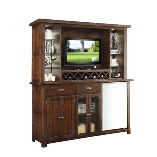 Whitaker Furniture Gettysburg Back Bar with Entertainment Hutch