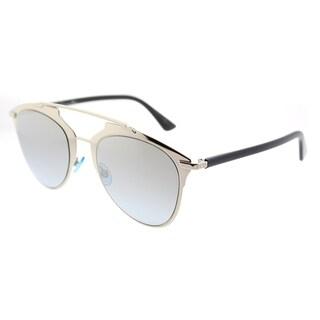 Dior Aviator Dior Reflected/S EEI 0H Unisex Light Gold Black Frame Gold Gradient Azure Lens Sunglasses