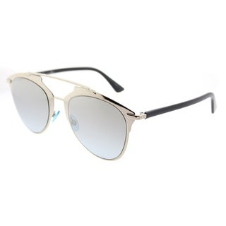 Dior Aviator Dior Reflected/S EEI 0H Unisex Light Gold Black Frame Gold Gradient Azure Lens Sunglasses