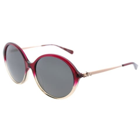 Coach Round HC 8214F 547387 Womens Red Sand Gradient Frame Dark Grey Lens Sunglasses