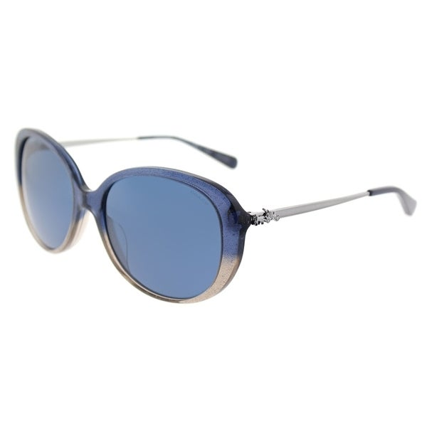 8cec372268ac3 ... uk coach oval hc 8215f 548980 womens denim taupe glitter gradient frame  dark blue lens sunglasses