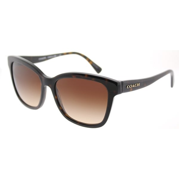 3a84f8aabe93 Coach Square HC 8219 512013 Womens Dark Tortoise Frame Brown Gradient Lens  Sunglasses