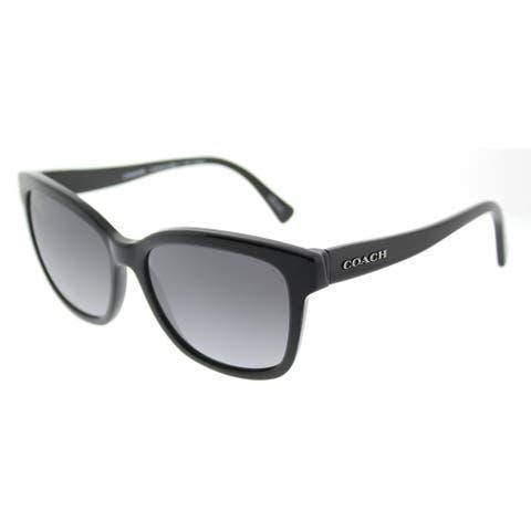 ae262161b748 Coach Square HC 8219 5002T3 Womens Black Frame Grey Gradient Polarized Lens  Sunglasses