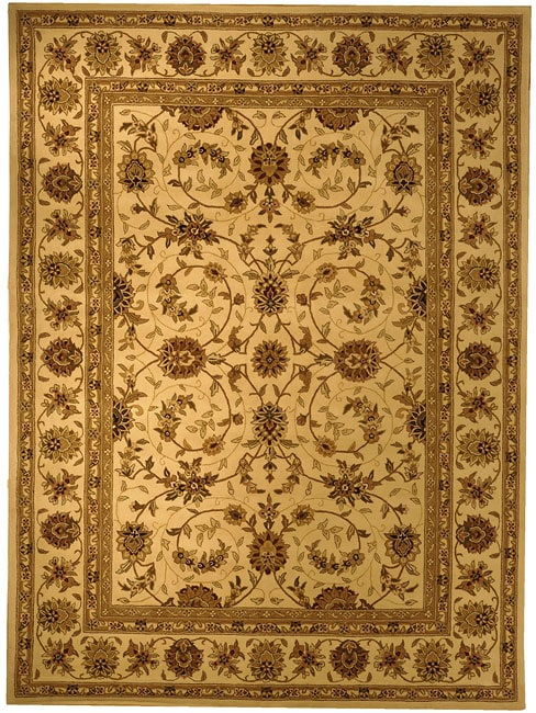 Safavieh Handmade Traditions Isfahan Ivory Wool and Silk Rug (10' x 14')