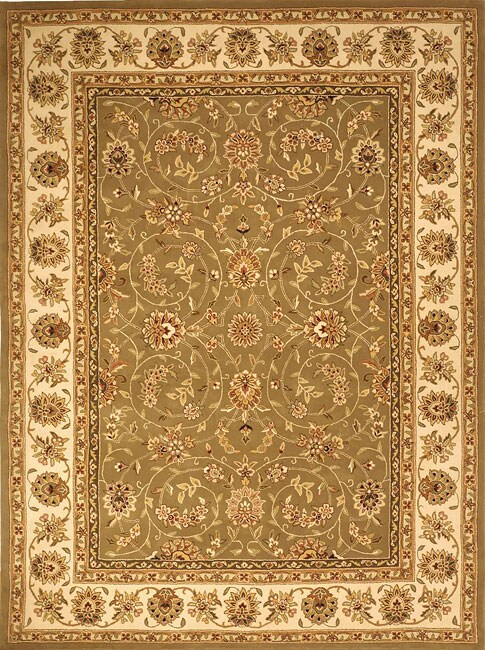 Safavieh Handmade Isfahan Sage/ Ivory Wool and Silk Rug - 10' x 14'
