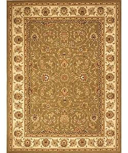 Safavieh Handmade Isfahan Sage/ Ivory Wool and Silk Rug (10' x 14')