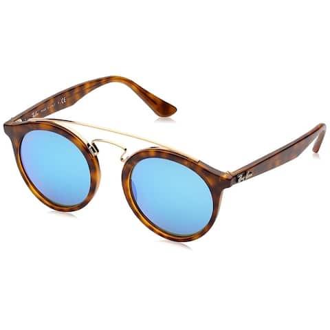 Ray-Ban Unisex RB4256 Gatsby I Tortoise Frame Blue Mirror 46mm Lens Sunglasses