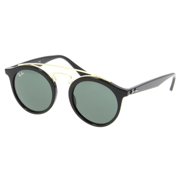 e73f112dbf Ray-Ban Unisex RB4256 Gatsby I Black Gold Frame Green Classic 46mm Lens  Sunglasses