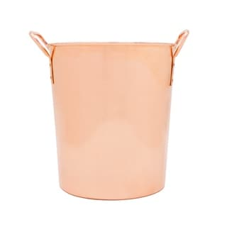 Sinkology Classic Large Ice Bucket Extra Thick Pure Solid Copper Bucket or Chiller with Handles