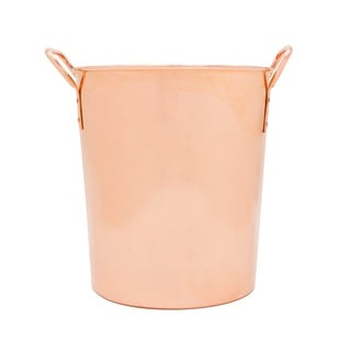 Link to Sinkology Classic Large Ice Bucket Extra Thick Pure Solid Copper Bucket or Chiller with Handles Similar Items in Glasses & Barware