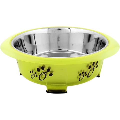 Iconic Pet Color Splash Designer Oval Fusion Bowl - Medium (28 oz.)