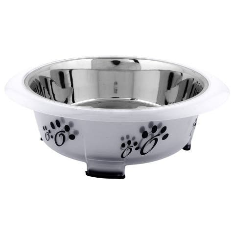 Iconic Pet Color Splash Designer Oval Fusion Bowl - Small