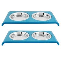 Iconic Pet Color Splash Cat Saucer Diner - Set of 2