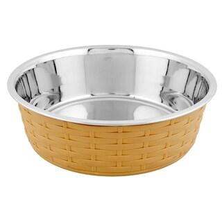 Iconic Pet Color Splash Designer Rattan Fusion Bowl - Small