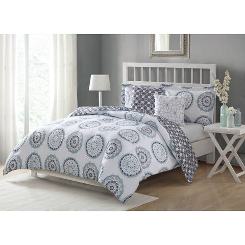 Studio 17 Calypso Navy 5-Piece Reversible Comforter Set