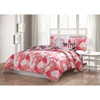 Quaint Home Flamingo Reversible 5-Piece Quilt Set