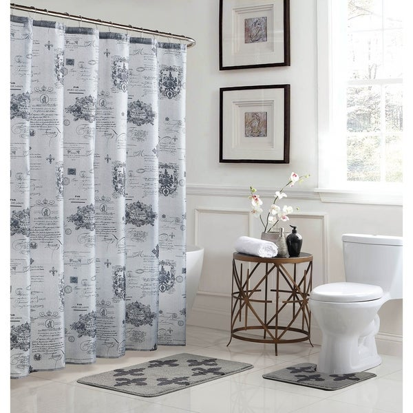 Fleur De Lis 15 Piece Bathroom Shower Set