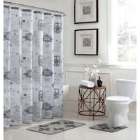 Fleur De Lis 15-Piece Bathroom Shower Set