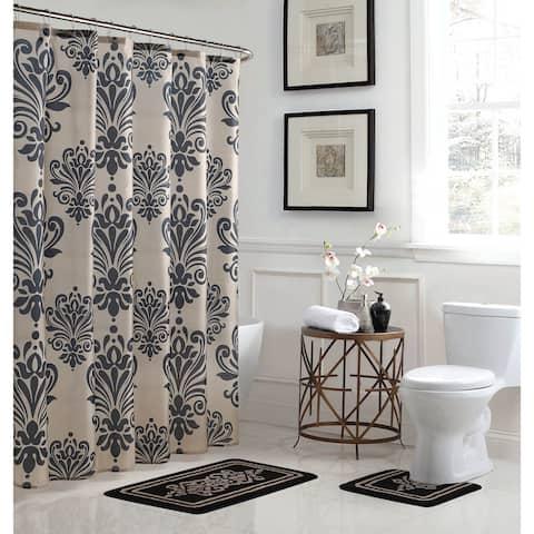 Reverly Damask 15-Piece Bathroom Shower Set