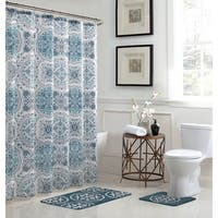 Caroline Geometric 15-Piece Bathroom Shower Set