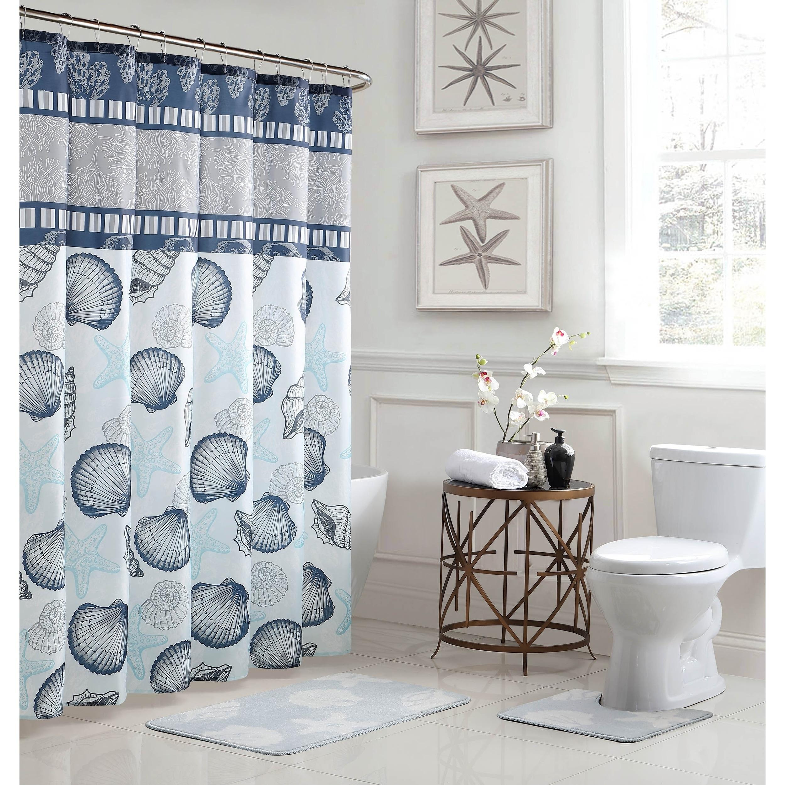 15 Piece Bathroom Shower Curtain Set