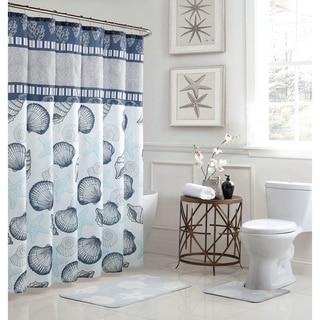 Island 15-Piece Bathroom Shower Curtain Set