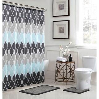 Clarisse Geometric 15-Piece Bathroom Shower Set
