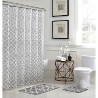 Elsa Geometric 15-Piece Bathroom Shower Set