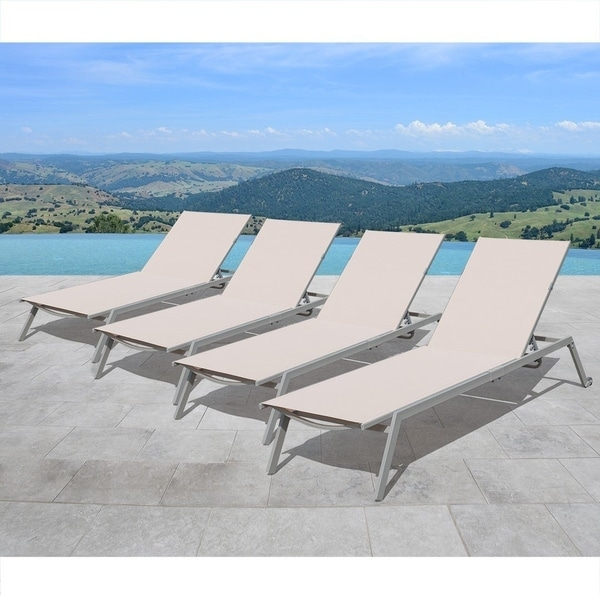 Shop Venice All Weather Resin Wicker White Chaise Lounges