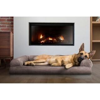 FurHaven Faux Fur & Velvet Memory Top Sofa Bed Pet Bed