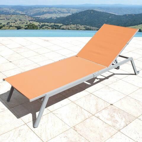 Corvus Torino Adjustable Sling Fabric Patio Chaise Lounge